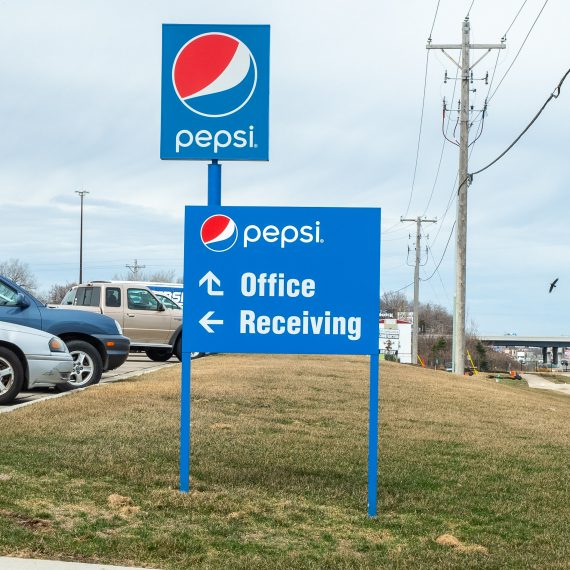 Here is an example of a Post and Panel Sign we made for Pepsi