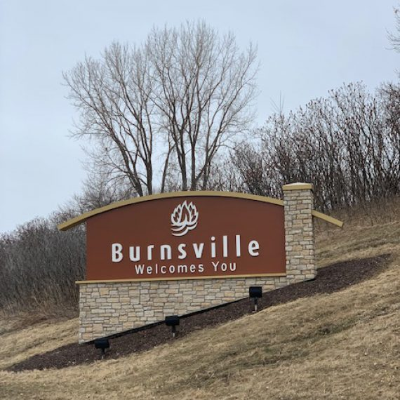 Burnsville Minnesota sign by Schad Tracy