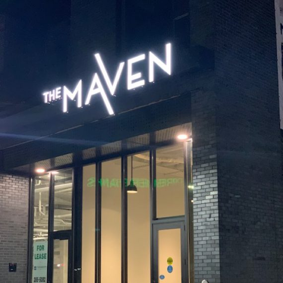 The Maven Minnesota sign by Schad Tracy