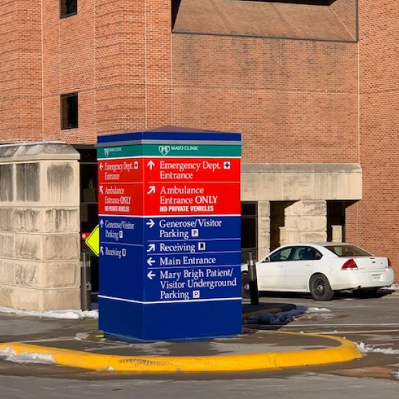 Mayo Clinic Exterior Signage by Schad Tracy
